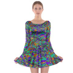 We Need More Colors 35a Long Sleeve Skater Dress