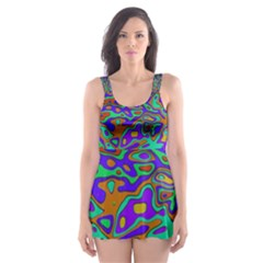 We Need More Colors 35a Skater Dress Swimsuit