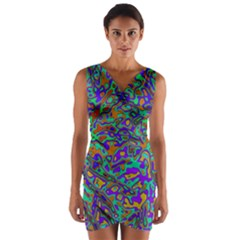 We Need More Colors 35a Wrap Front Bodycon Dress