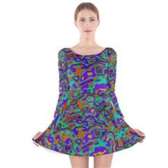We Need More Colors 35a Long Sleeve Velvet Skater Dress