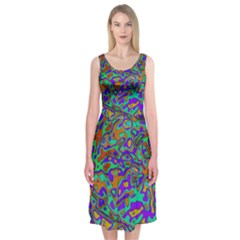 We Need More Colors 35a Midi Sleeveless Dress