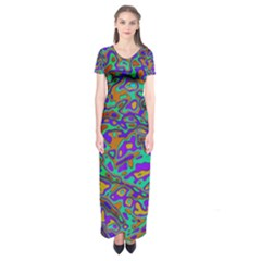 We Need More Colors 35a Short Sleeve Maxi Dress