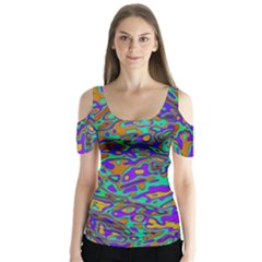 We Need More Colors 35a Butterfly Sleeve Cutout Tee