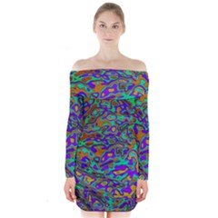 We Need More Colors 35a Long Sleeve Off Shoulder Dress