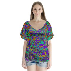 We Need More Colors 35a Flutter Sleeve Top