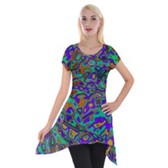 We Need More Colors 35a Short Sleeve Side Drop Tunic