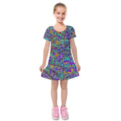 We Need More Colors 35a Kids  Short Sleeve Velvet Dress