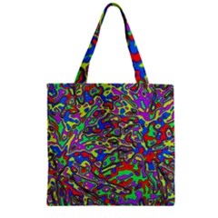 We Need More Colors 35c Zipper Grocery Tote Bag