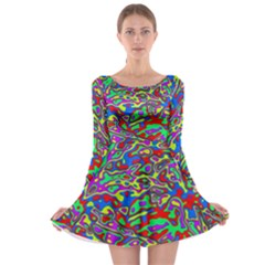 We Need More Colors 35c Long Sleeve Skater Dress