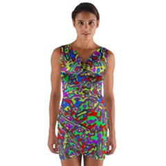 We Need More Colors 35c Wrap Front Bodycon Dress