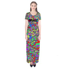 We Need More Colors 35c Short Sleeve Maxi Dress