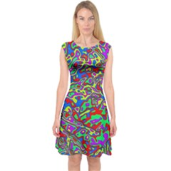 We Need More Colors 35c Capsleeve Midi Dress