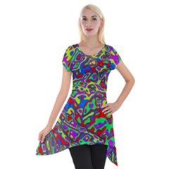 We Need More Colors 35c Short Sleeve Side Drop Tunic