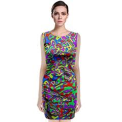 We Need More Colors 35c Sleeveless Velvet Midi Dress