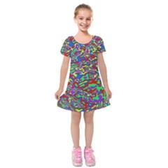 We Need More Colors 35c Kids  Short Sleeve Velvet Dress