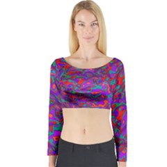 We Need More Colors 35b Long Sleeve Crop Top
