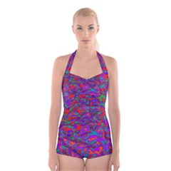 We Need More Colors 35b Boyleg Halter Swimsuit