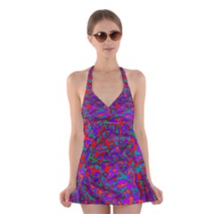 We Need More Colors 35b Halter Swimsuit Dress