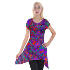 We Need More Colors 35b Short Sleeve Side Drop Tunic