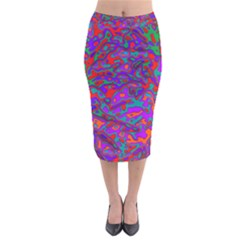 We Need More Colors 35b Velvet Midi Pencil Skirt