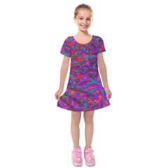 We Need More Colors 35b Kids  Short Sleeve Velvet Dress