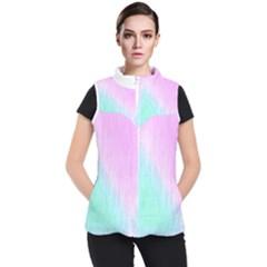 Pink Green Texture                                      Women s Puffer Vest