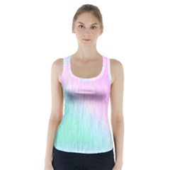 Pink green texture                                             Racer Back Sports Top