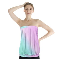Pink Green Texture                                                          Strapless Top