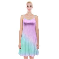 Pink Green Texture                                               Spaghetti Strap Velvet Dress