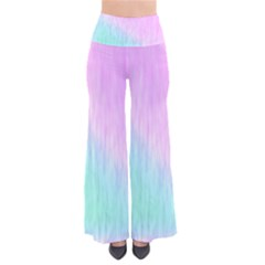 Pink green texture                                      Women s Chic Palazzo Pants