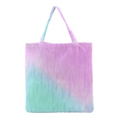 Pink green texture                                                       Grocery Tote Bag