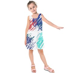 Scribbles                            Kid s Sleeveless Dress