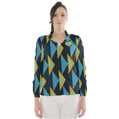 Yellow blue triangles pattern                                                        Wind Breaker (Women)