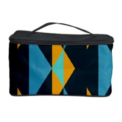 Yellow blue triangles pattern                                                        Cosmetic Storage Case