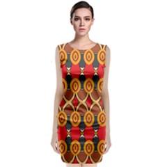 Ovals Pattern                                                         Sleeveless Velvet Midi Dress