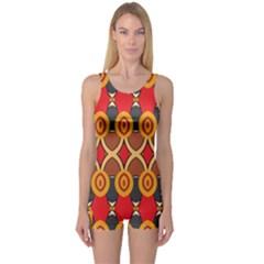 Ovals pattern                                                         Women s Boyleg One Piece Swimsuit