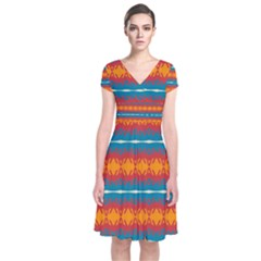 Shapes rows                         Short Sleeve Front Wrap Dress