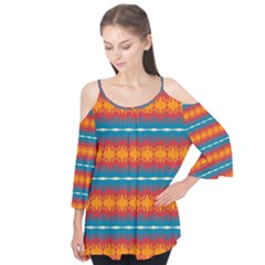 Shapes rows                                        Flutter Sleeve Tee