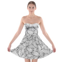 White knot dress bohemian Strapless Bra Top Dress
