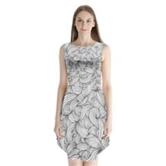 White knot dress bohemian Sleeveless Chiffon Dress