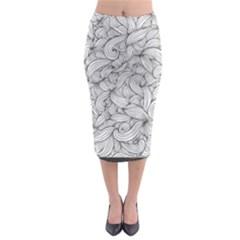 White knot dress bohemian Midi Pencil Skirt