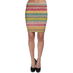 Colorful bohemian Bodycon Skirt