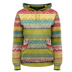 Colorful bohemian Women s Pullover Hoodie