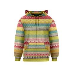 Colorful bohemian Kids  Zipper Hoodie