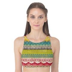 Colorful bohemian Tank Bikini Top