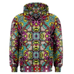 Traitional floral purple Men s Zipper Hoodie