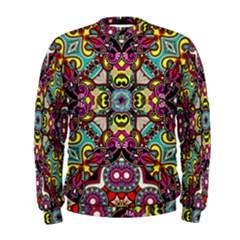 Traitional floral purple Men s Sweatshirt