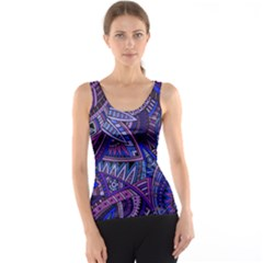 Abstract electric blue hippie vector  Tank Top