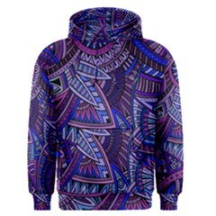 Abstract electric blue hippie vector  Men s Pullover Hoodie