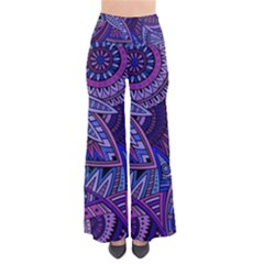 Abstract electric blue hippie vector  Pants